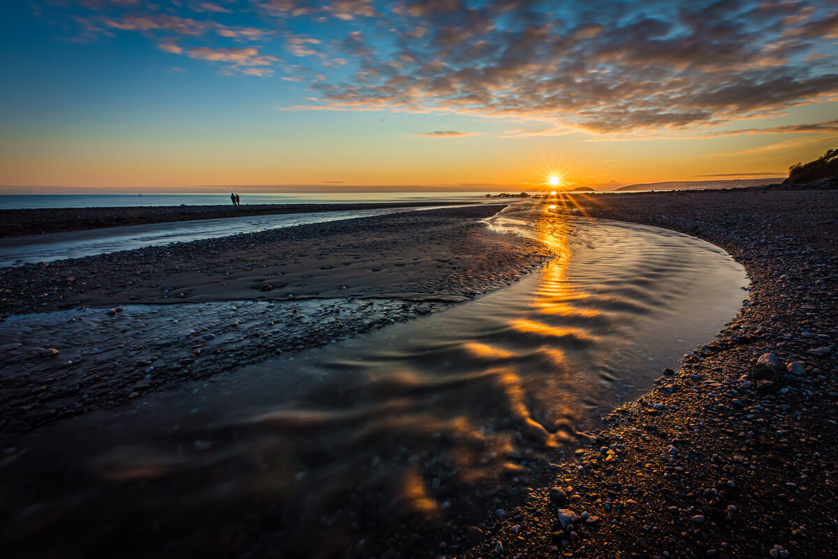 Seaton Beach at Sunset, Cornwall