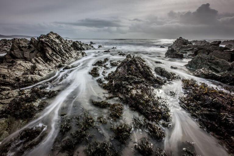 Long Exposure Portwrinkle Rocks
