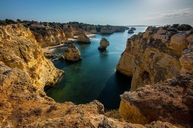 Praia da Marinha Cliffs, Portugal