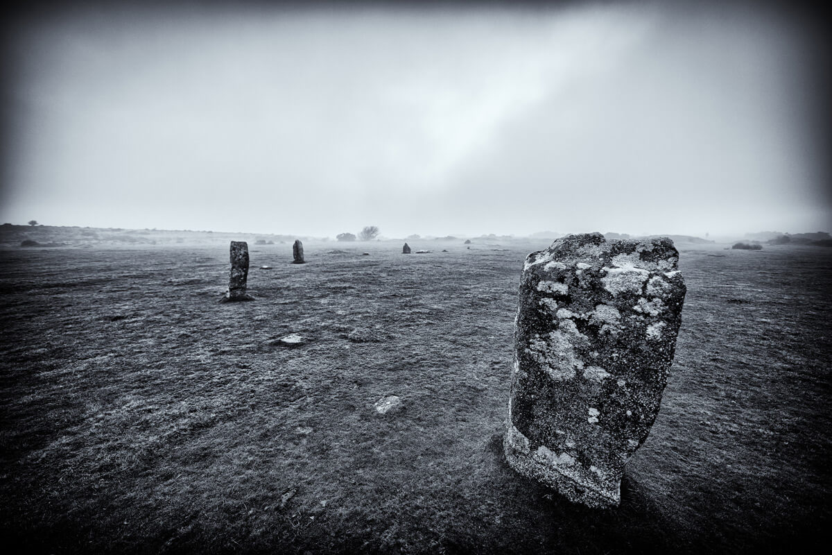 Hurlers Stones at the Cheesewring in Cornwall
