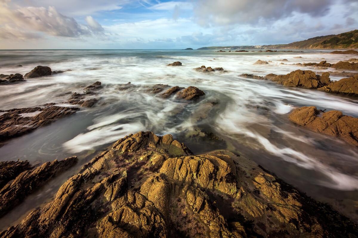 Swirly Sea at Seaton Cornwall